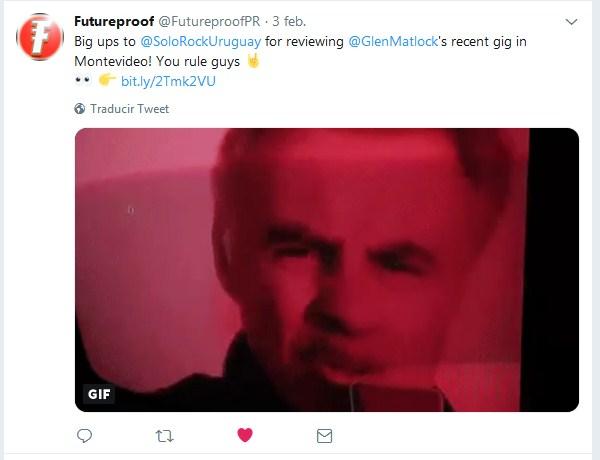 Glen Matlock en Tweeter