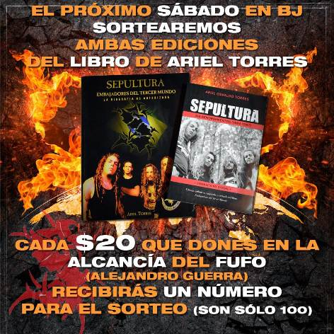 Metal Battle libro Sepultura chico
